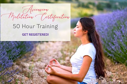 Ascension Meditation Certification w Retreat