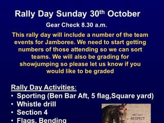 Rally Day - Sunday 30 October 2016