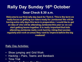 Rally Day - Sunday 16th October