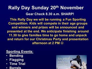 Rally Day & Xmas Party- 20 November 2016