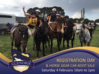 Registration Day - Saturday 4 Feb