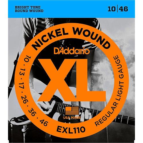D'Addario EXL110 Nickel Wound Light Electric Guitar Strings Single-Pack