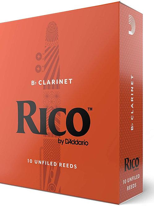 Rico Bb Clarinet Reeds 10 pack