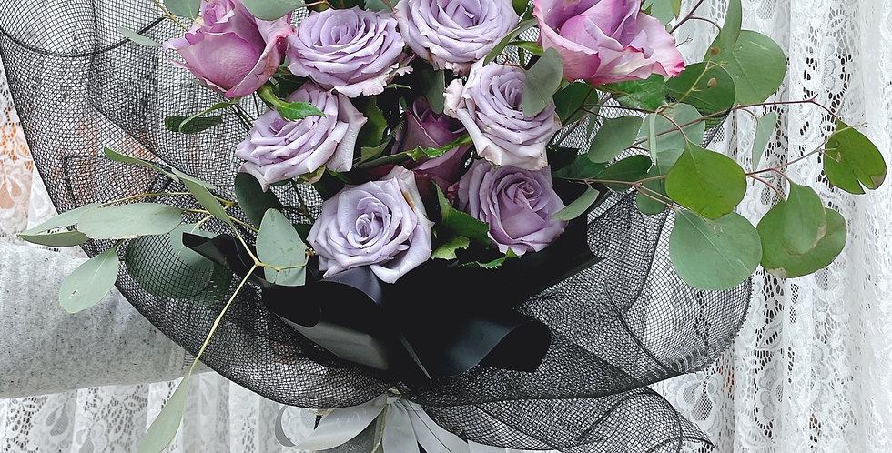 * 別出心裁* 紫色玫瑰 情人節花束