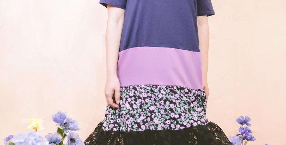 韓裝🇰🇷 三色冰 下擺lace 連身裙