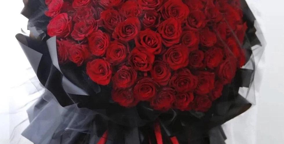 99枝玫瑰 紅玫瑰 求婚花束