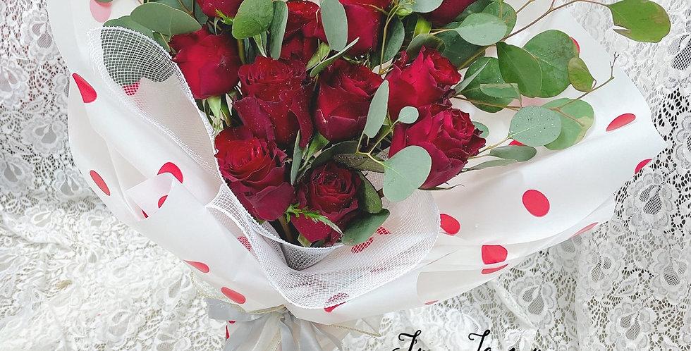 Minnie 米妮 紅玫瑰 情人節花束