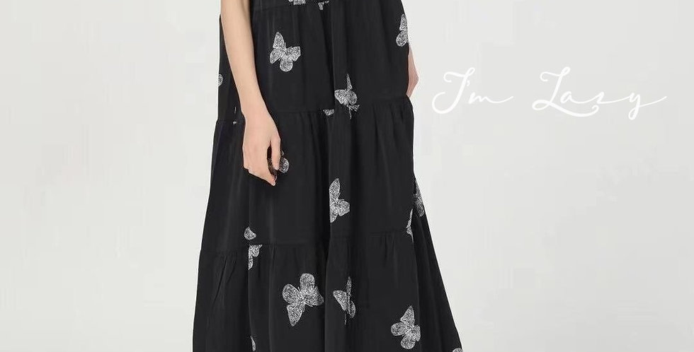 韓裝 🇰🇷 黑蝴蝶 連身裙
