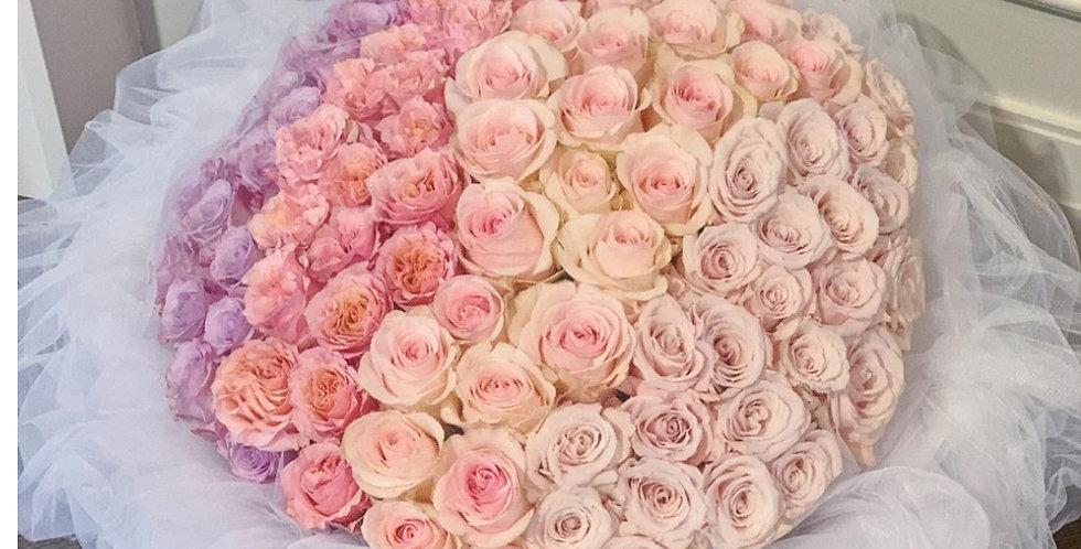 99枝玫瑰 漸變玫瑰 求婚花束