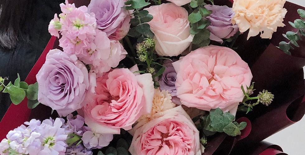 《 春之頌 》 康乃韾 母親節花束 生日花 玫瑰花 觀塘 花店