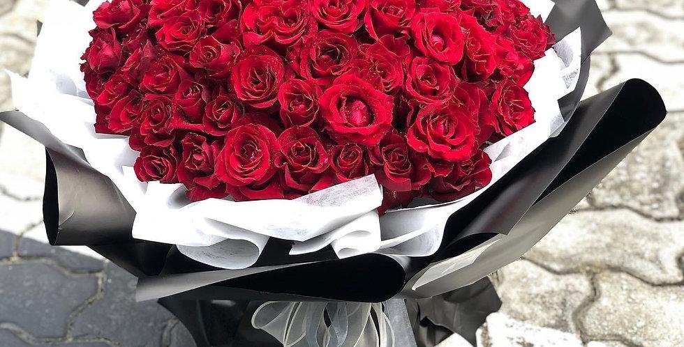 99枝紅玫瑰 求婚花束