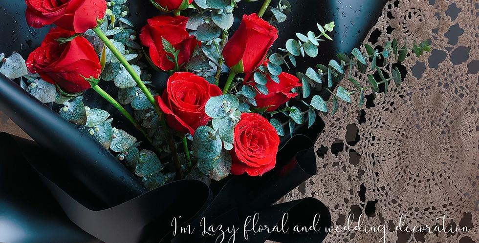 《 冷漠與激情 》 -情人節花 紅玫瑰 觀塘花店 flower delivery 網上花店