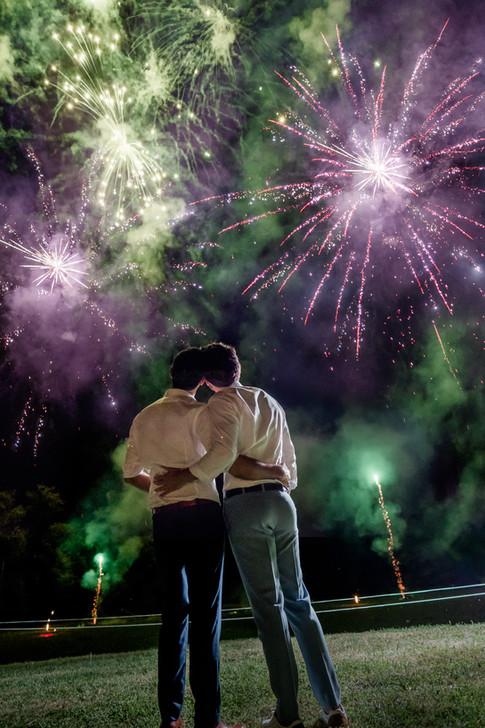 Fireworks Château d'Azy Wedding in France