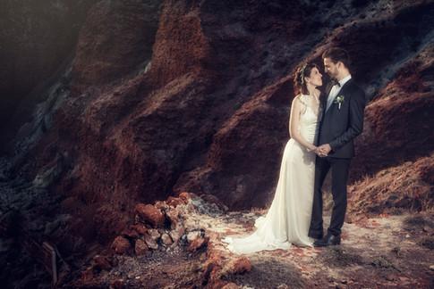 Prewedding et photo de mariage à Santorin par David Brenot