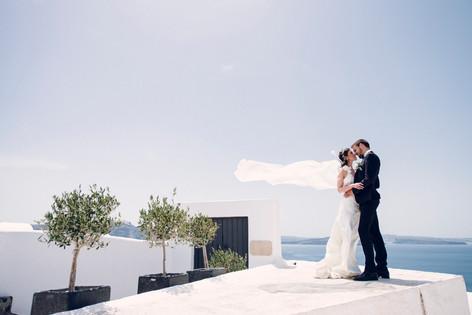 L'agence l'empreinte photographie  à Santorin - photos de mariage