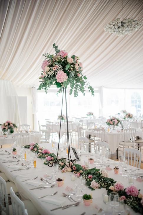 Décoration florale de mariage chic et champêtre