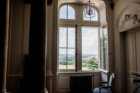 La magnifique vue depuis le Château d'Azy Lieu de mariage - Photographie de L'Empreinte