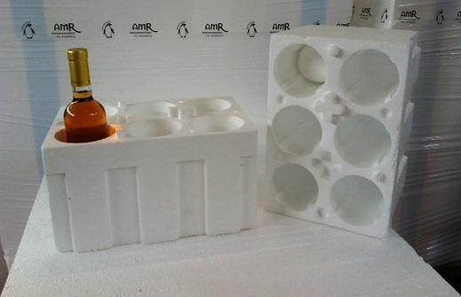 cantinetta polistirolo 6 bottiglie