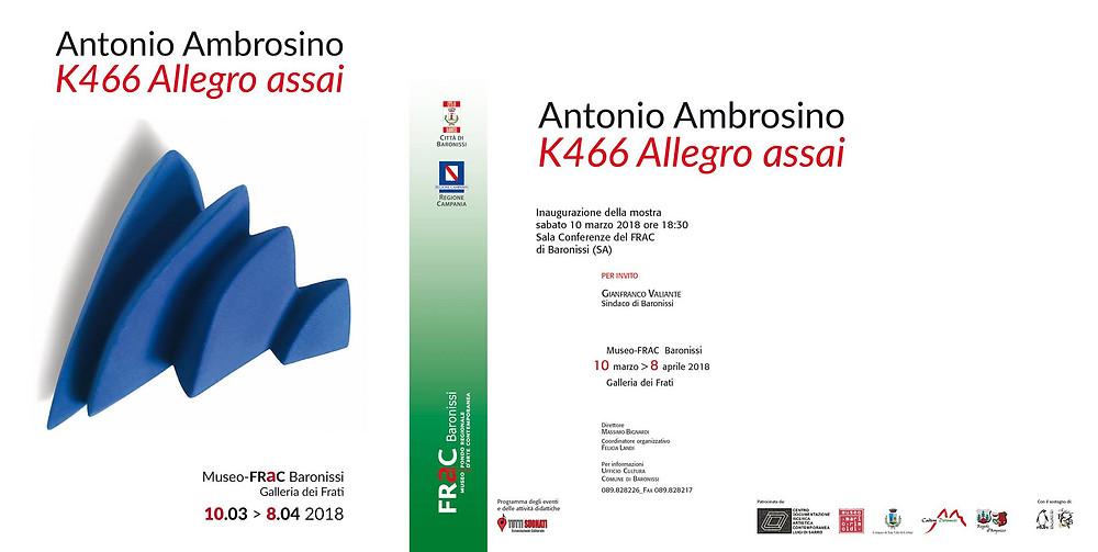 mostra K466 Allegro Assai di Antonio Ambrosino