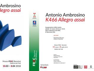 Invito alla mostra di Antonio Ambrosino.