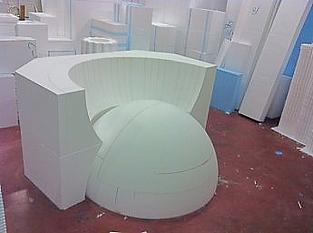 stampo edile in polistirolo per cupola