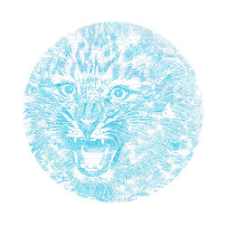 Roaring Leopard Encircled by its Echoes
