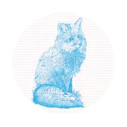 "Mr. Lonely Fox, 14""x14"", 2015"