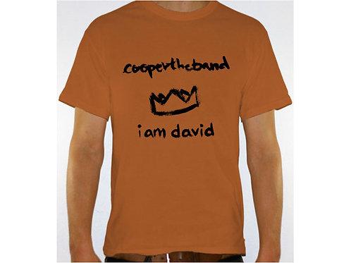 """Coopertheband """"I am David"""" t-shirt"""