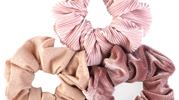 Topknot Scrunchies - Pink Variety (3pk)
