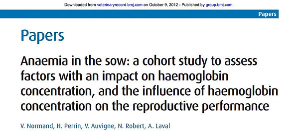 Normand et al., 2012 - anaemia in sows.J
