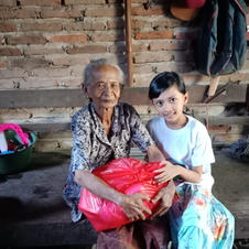 child with grandmother
