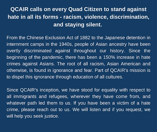 Statement On Violence Against Asian Peop