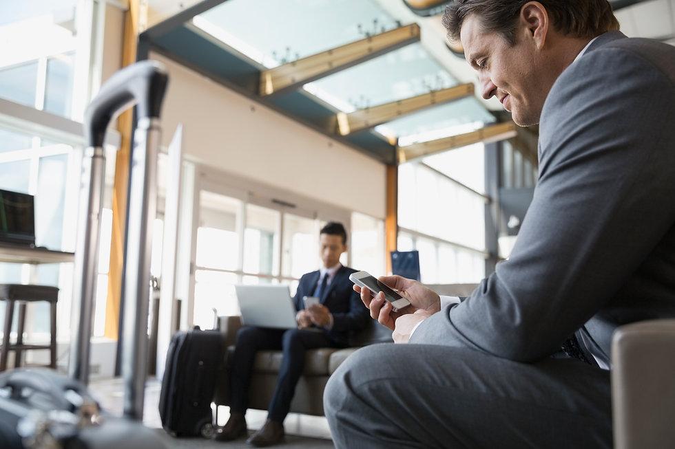 携帯電話で空港