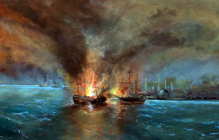 Russian Fleet off Istanbul (Sold)