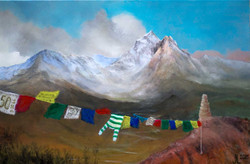 Prayer flags of Nepal (Sold)