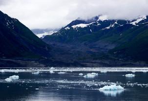 Icebergs off Hubbard