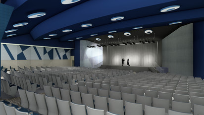 Miami Palmetto Senior High School Auditorium Renovation, Designed by Zyscovich Architects