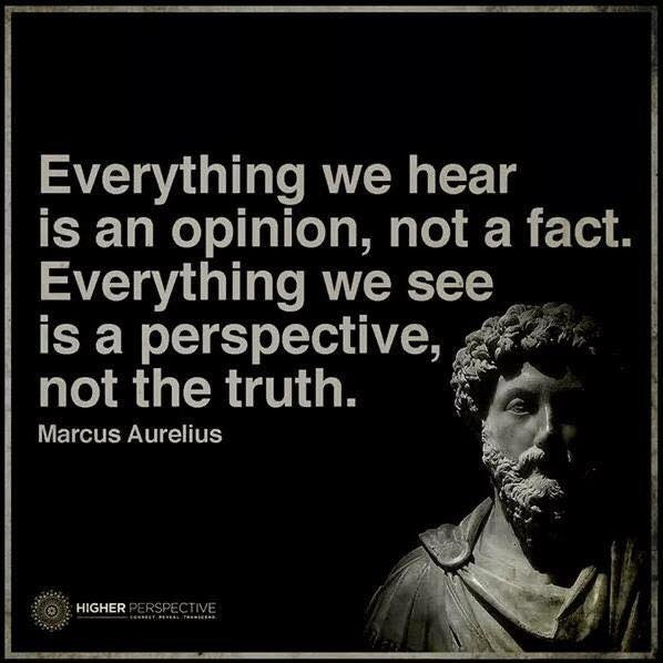 Bipolar Philosophy, Marcus Aurelius, perspective, truth, opinion