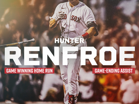 Hunter Renfroe Bullies the Rays With his Bat, and his Arm, and Carries the Red Sox to 2nd Place!