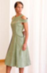 Light Green Short Ruffle Dress