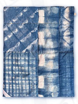 Contemporary Indigo Throw Blanket