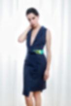 Asymmetrical Sleeveless Blue Dress