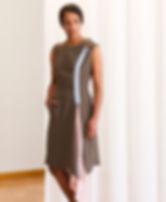 Olive Green Hemmed Crewneck Dress