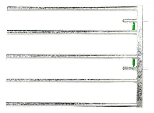 Einschubteil EX5 mit zwei Federriegeln