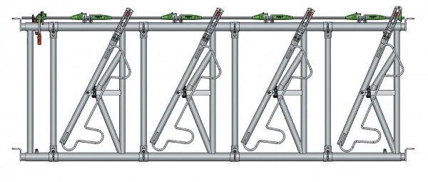 Safety IV Fressgitter 4 Fressplätze, 3 m