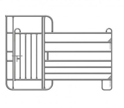Treibgangpanel mit 80 cm Veterinärtür