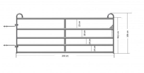Schaftor 2,4m