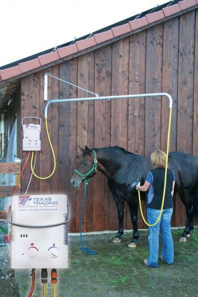 Pferdedusche-Set inkl. Warmwassererzeuger