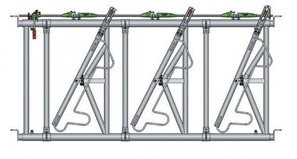 Safety IV Fressgitter 3 Fressplätze, 2 m