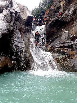 Canyoning Les Arcs